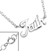 Silver Faith Inline Necklace