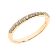 Solid 14k Yellow Gold Diamond Stackable Wedding Band