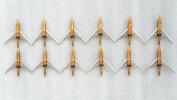 12pcs New Archery Slipcam Hypodermic Broadheads 2 Blade 100grain 5.8cm Cut Hunting Shooting