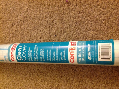 Con-Tact Brand Self-adhesive Clear Protective Liner for Books and Documents, 5.5m X 2.7m