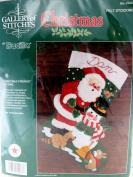 "Bucilla ""Christmas Friends"" 38cm Jewelled Felt Applique Stocking KIT Gallery of Stitches #32967"