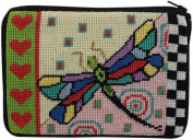 Cosmetic Purse - Dragonfly - Needlepoint Kit