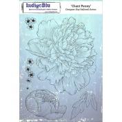 IndigoBlu Cling Mounted Stamp, Giant Peony