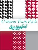 CRIMSON & WHITE THEME PACK of Craft Vinyl Team Inspired Pattern Craft Vinyl Pack