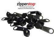 ZipperStop Distributor YKK® -Zipper Repair Kit Solution YKK® #8 Extra Heavy Weight Coil Long Pull Sliders Black Made in USA - 3pcs a pack