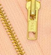 70cm Medium Weight Jacket Zipper YKK #5 Brass ~ Separating ~ 521 Peach