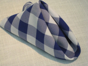 Napkin 46cm x 46cm Poly Royal blue & white Chequered (Pack of 10) Made in USA