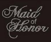 Maid of Honour Rhinestone Iron on Transfer