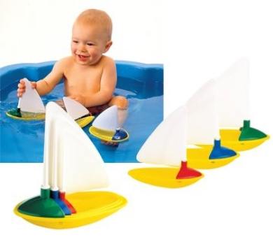 Ambi Toys Three Little Boats Toy
