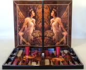 Artemis Goddess Decoupage Backgammon