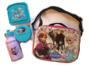Disney Frozen School Lunch Bag Box Set with Sandwich, Snack, and Drink Containers