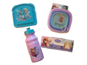 Disney Frozen Deluxe School Lunch Box Kit Container Set
