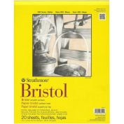 Strathmore 28cm by 36cm Bristol Smooth Paper Pad, 20-Sheet