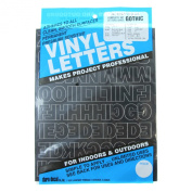 Permanent Adhesive Vinyl Letters and Numbers 2.5cm -Gothic/Black
