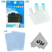 JW LCP-G7 2 Kits Low Reflection Anti-smudge High Transmission Perfect Cutting LCD Guard Film Display Screen Protector For PANASONIC LUMIX DMC-G7 + JW emall Micro Fibre Cleaning Cloth