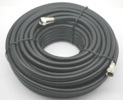 30m BLACK RG6 CATV COAXIAL CABLE 3000 MHZ TESTED PERFECT VISION 036015