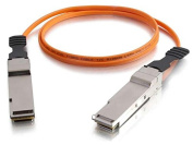 C2G 06198 5m QSFP+/QSFP+ 40G InfiniBand Active Optical Cable - Fibre Optic for Network Device - Active QSFP+ (SFF-8436) - Active QSFP+ (SFF-8436) - 40Gb - 5m - Orange