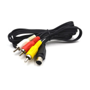 Electop 4 Pin S-video to 3 Male RCA Composite Video Cable 1.45M