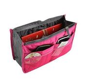 Domire Rose Handbag Pouch Bag in Bag Organiser Insert Organiser Tidy Travel Cosmetic Pocket Makeup Bag
