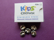 5 Stainless Steel Primary Molar Crowns All sizes(FDA) same as 3M ESPE.