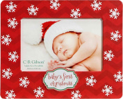 C.R. Gibson Tabletop Photo Frame, Baby's First Christmas