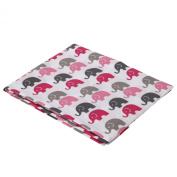 Elephants Pink/Grey Mini Elephants Crib fitted sheet