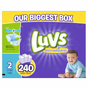 Luvs Ultra Leakguards Nappies, Size 2, 240 Count