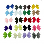 Coolrunner ® 20pc 7.6cm Boutique Windmill Style Hair Bows Girls Baby Alligator Clip Grosgrain Ribbon Headbands