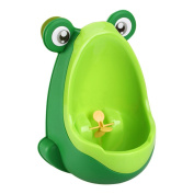 BFY Cute Frog Potty Training Urinal for Boys with Funny Aiming Target