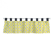 Trend Lab Waverly Rise and Shine Window Valance, Black/White