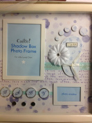 Cudlie Shadow Box Baby Boy Photo Frame