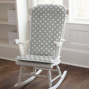 Grey and White Dots and Stripes Rocking Chair Pad
