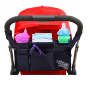#1 Best Quality Lebogner Luxury Stroller Organiser, Universal Black Baby Nappy Stroller Bag, Fits Most Strollers - Satisfaction Is .  Or Your Money Back.