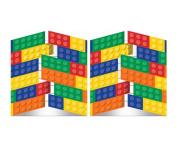 Building Block Birthday Party Invitations