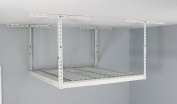 MonsterRAX Overhead Garage Storage Rack (60cm - 110cm Ceiling Drop), 1.2m x 1.2m, White