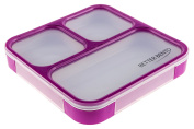 Better Bento Lunch Box the Classic Square Ultra-thin, Leak Proof Container, Purple