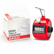 GOGO Counter, Plastic 4 Digit Tally Counter, Hand Mechanical Clicker