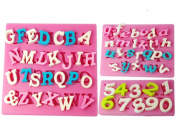 FOUR-C Silicone Cupcake Moulds Number Fondant Moulds Colour Pink
