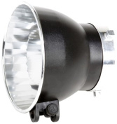 Bowens BW-1885 Wide Angle 120 Degree Reflector 15cm with Umbrella Bracket and Silver Interior
