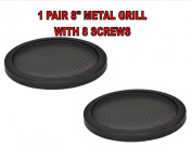 1 Pair 20cm INCH CAR SPEAKER WOOFER STEEL MESH GRILLS WITH SPEED CLIPS AND SCREWS PROTECT YOUR SPEAKERS