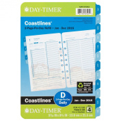 Day-Timer Two Page Per Day Refill 2016, 12 Months, Loose-Leaf, Desk Size, 14cm x 22cm , Coastlines