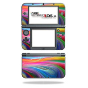 MightySkins Protective Vinyl Skin Decal for New Nintendo 3DS XL (2015) cover wrap sticker skins Rainbow Waves