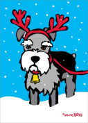 Nouvelles Images XDB 502 Holiday Boxed Note Card Set - Schnauzer Reindeer, Marc Tetro