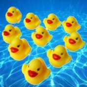12 SQUEEZY RUBBER DUCKS,PARTY BAG TOYS,kids duck race,bath time toys,painted