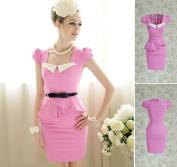 Pink Peplum Sheath Dress