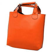 TOOGOO(R) New Vintage bag Leather bags women Tote Shopping Bag Handbag orange