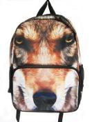 DOG's FACE print Rucksack/ Backpack School Bag Short Trip