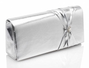 Lovely Silver Wedding Bridal Bridesmaid Occasion Handbag By Pure & Precious Amaryllis