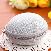 Cute Round Hard Storage Case for Earphone Headphone Earbuds SD TF Cards mini Bag