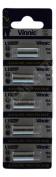 5 x Genuine Vinnic L1022F 10A Alkaline 9v Mercury Free Battery